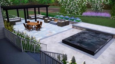 3D landscape pool design ashburn aldie leesburg va