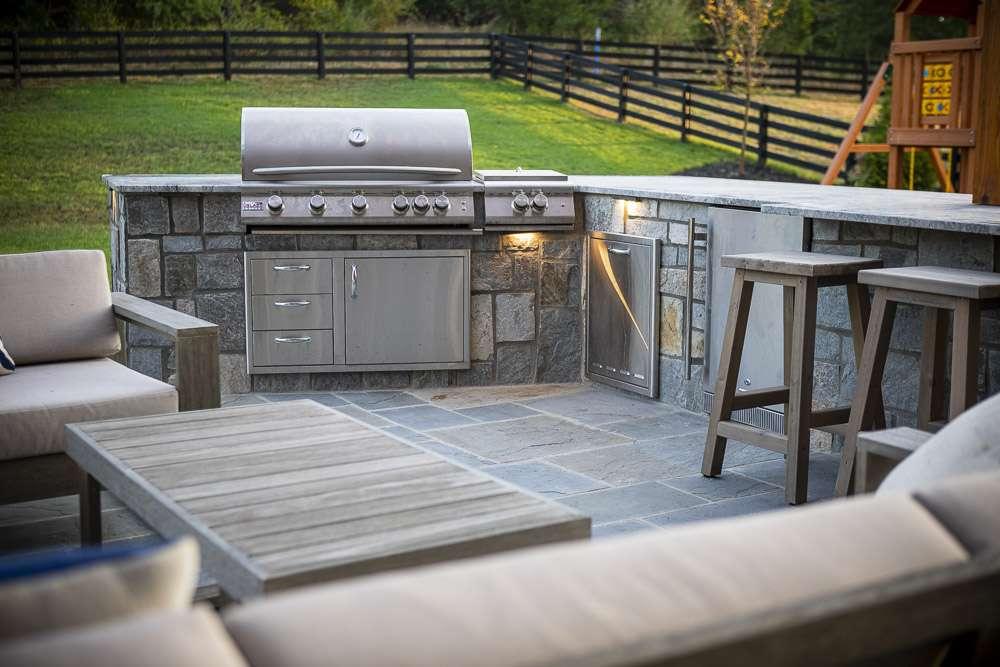 unique outdoor kitchen installation