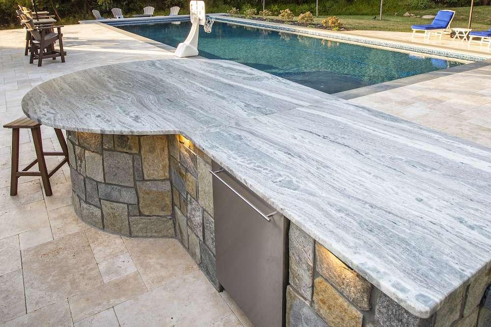 natural stone outdoor kitchen in northern virginia