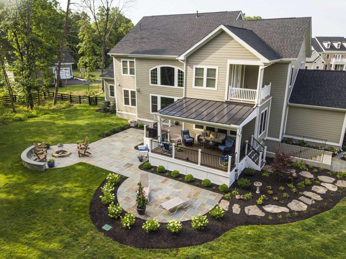 landscape. patio, and deck
