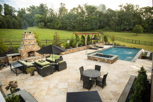 beautiful patio in Ashburn, VA