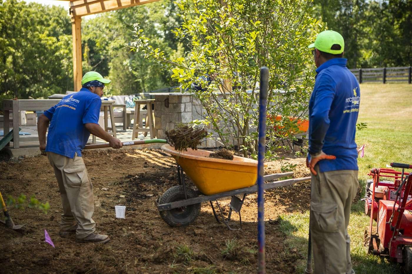 Rock Water Farm landscape construction crew