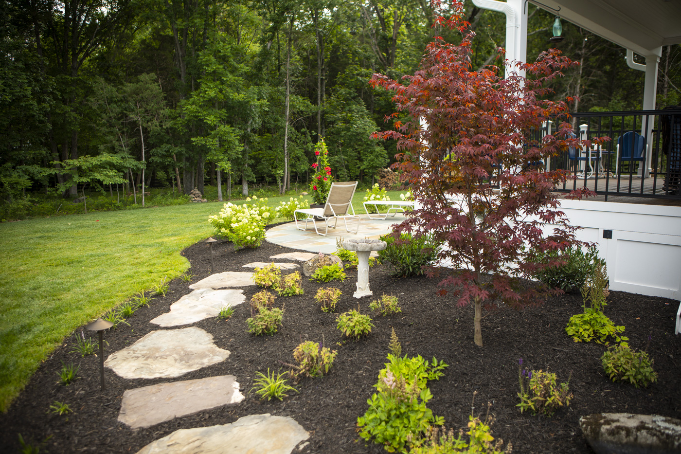 beautiful landscape bed with no weeds