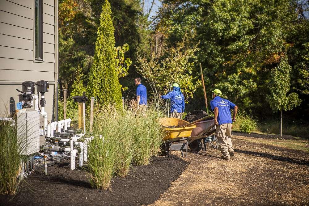 Rock Water Farm landscape maintenance crew