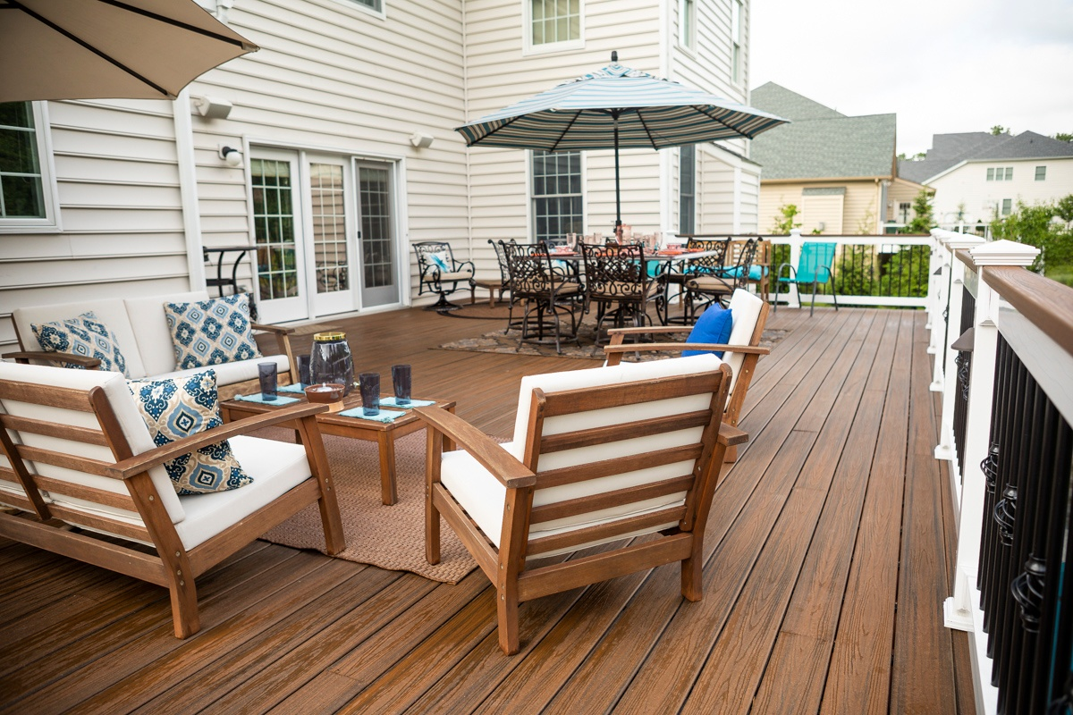 Large deck for entertaining in Haymarket, VA