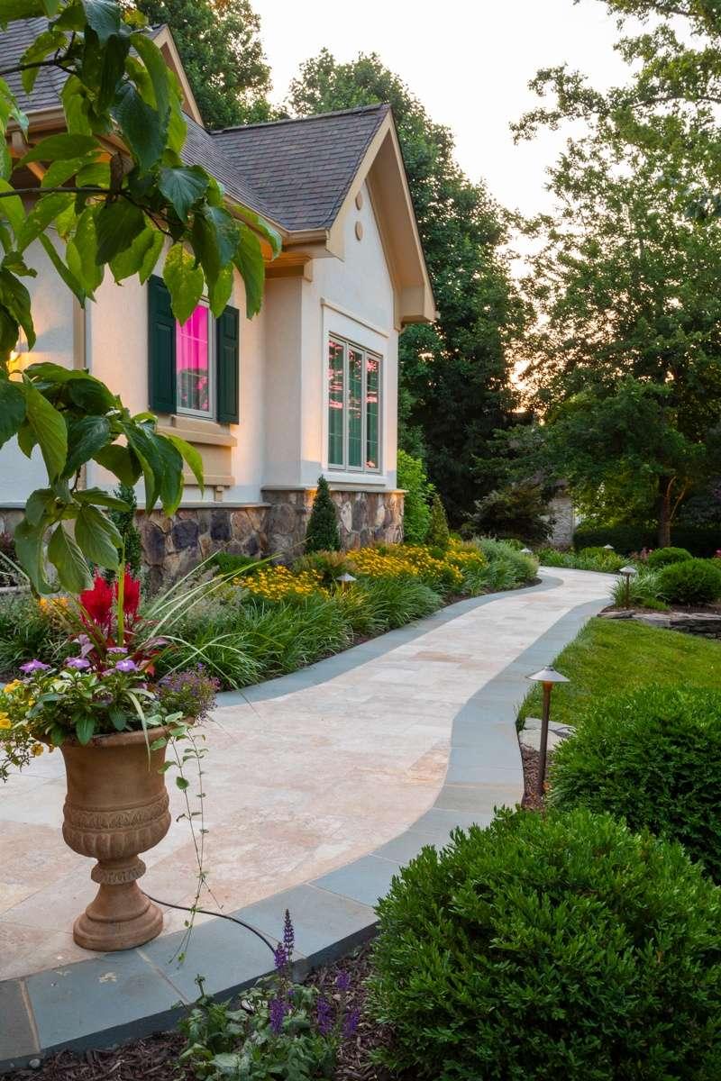beautiful front walkway design Great Falls, VA