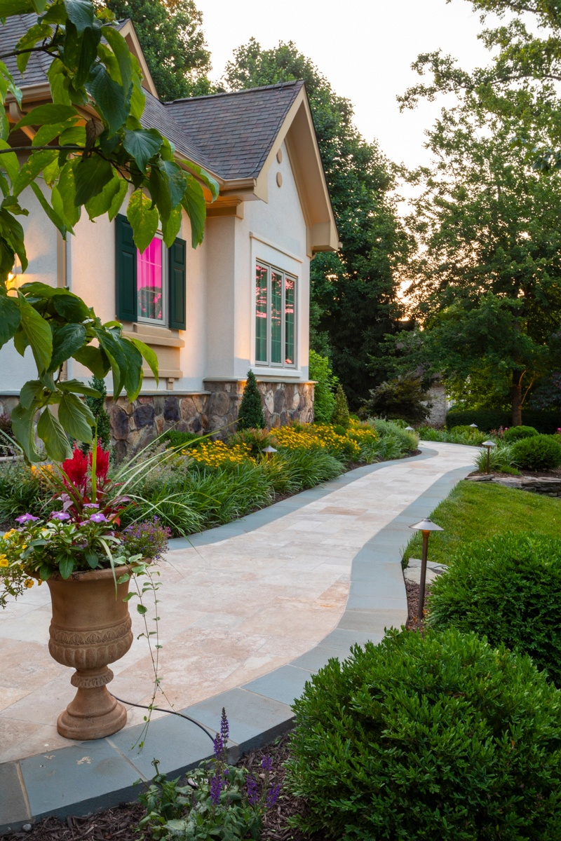 beautiful front walkway design Great Falls, VA