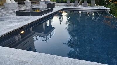 infinity pool and hot tub