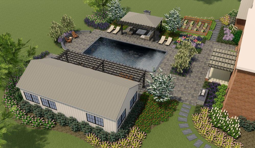 landscape design 3D rendering in Warrenton, VA