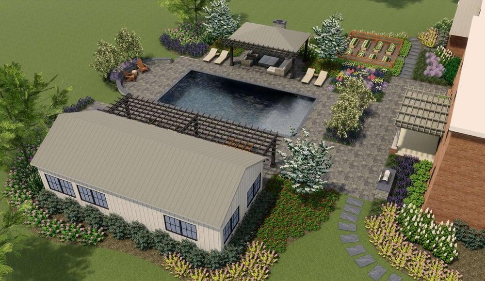 landscape design 3D rendering in Warrenton, VA