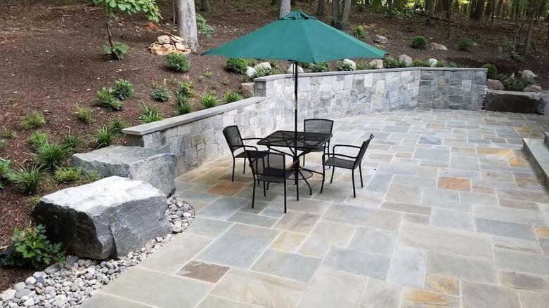 Landscaping Haymarket, VA case study with a landscape design including a stone patio.