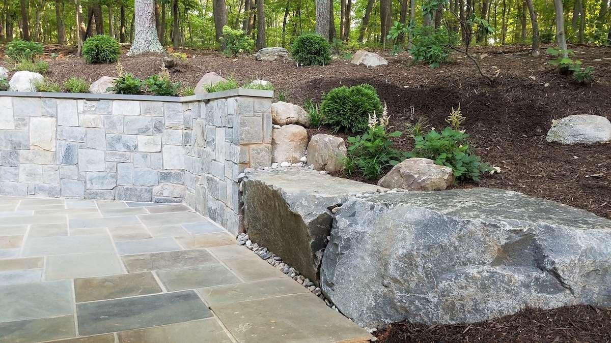 Landscape design in Haymarket, VA by Rock Water Farm