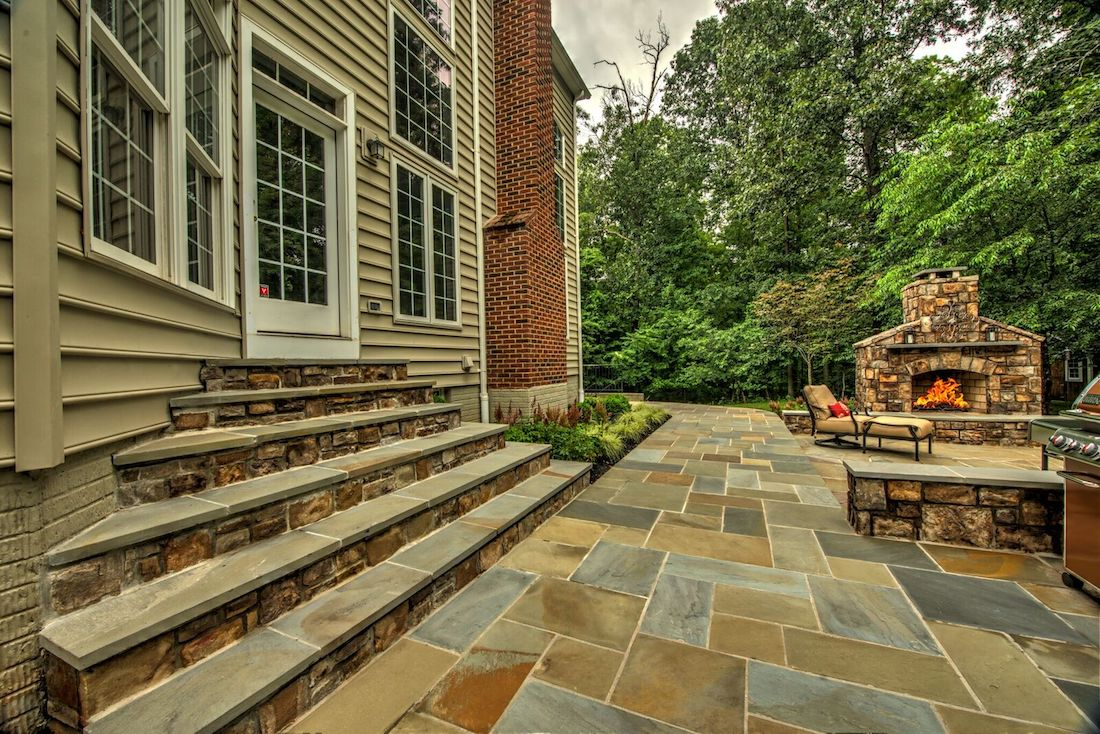 hardscape steps to patio