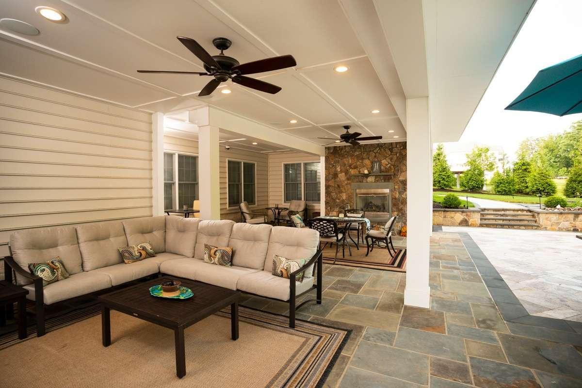 patio fireplace under deck 1