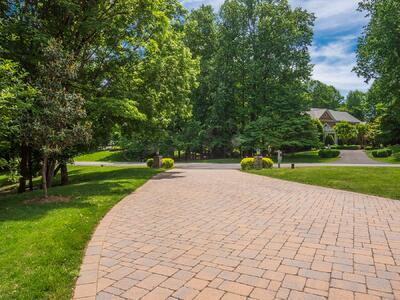 Beautiful paver driveway in Great Falls, VA