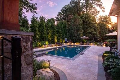 pool design and patio in Great Falls VA