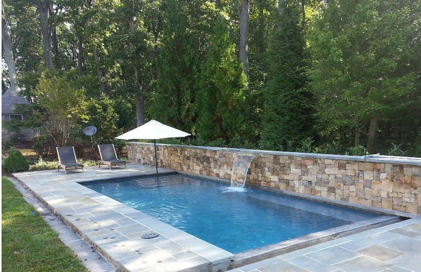 inground pool and patio in northern Virginia