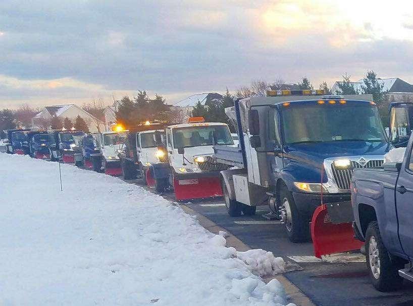 Snow plows in Aldie, VA