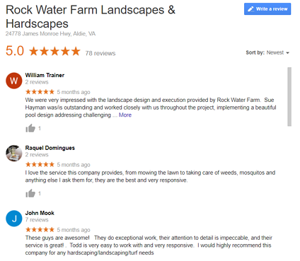 Rock Water Farm Google Reviews