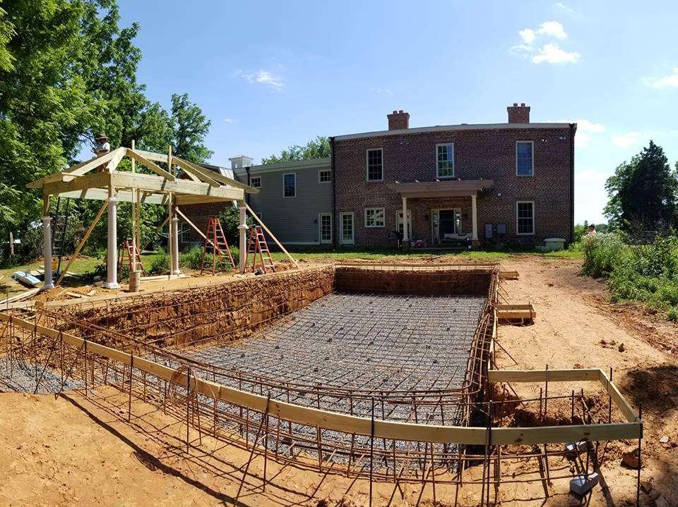 Property grading around pool