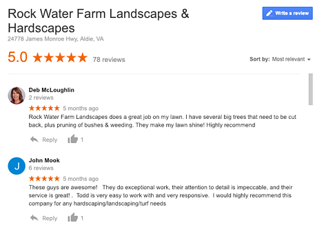 rock water farm reviews