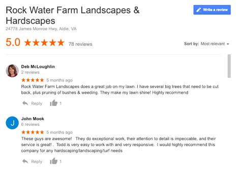 rock water farm reviews