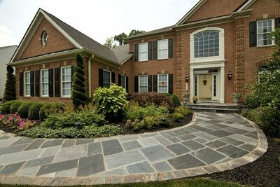 Stone walkway design, ideas, and cost considerations in Aldie, Ashburn, or Leesburg, VA.