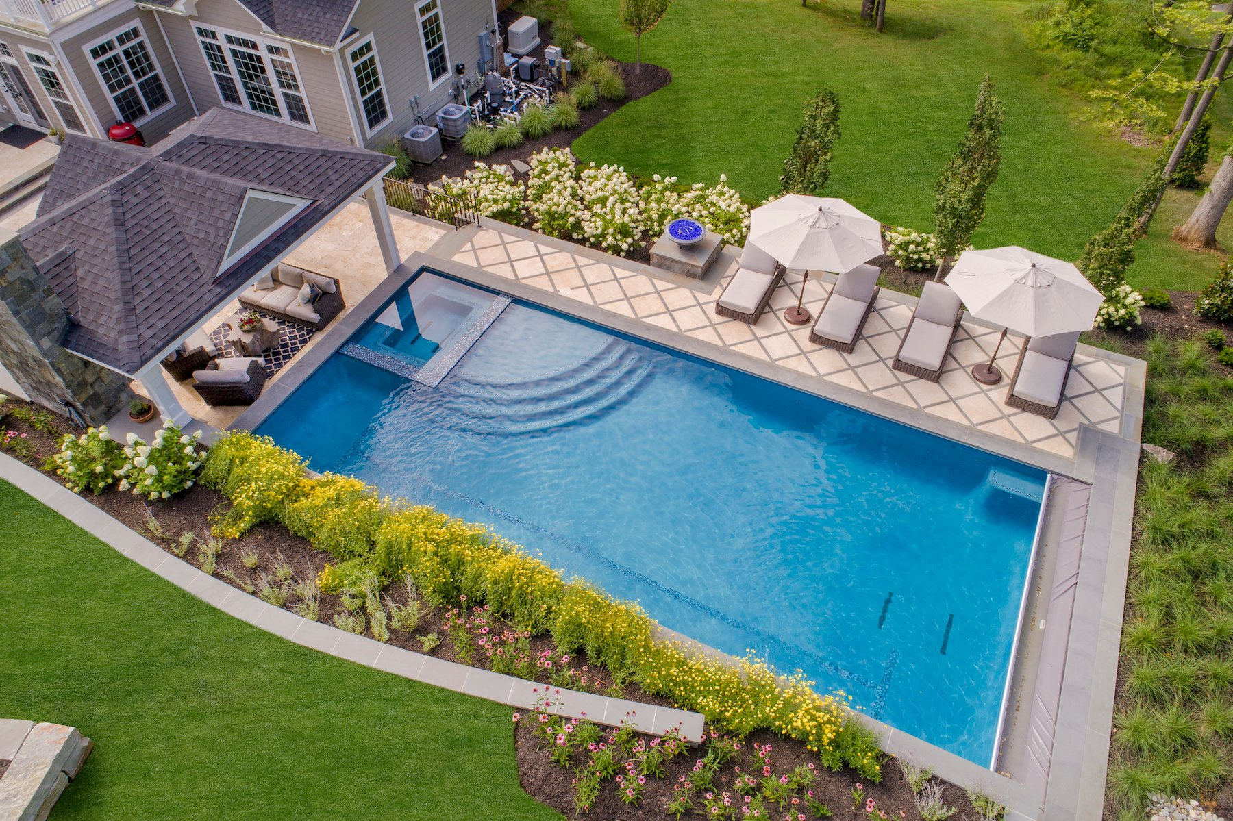 Customized pools and landscaping for Northern Virginia