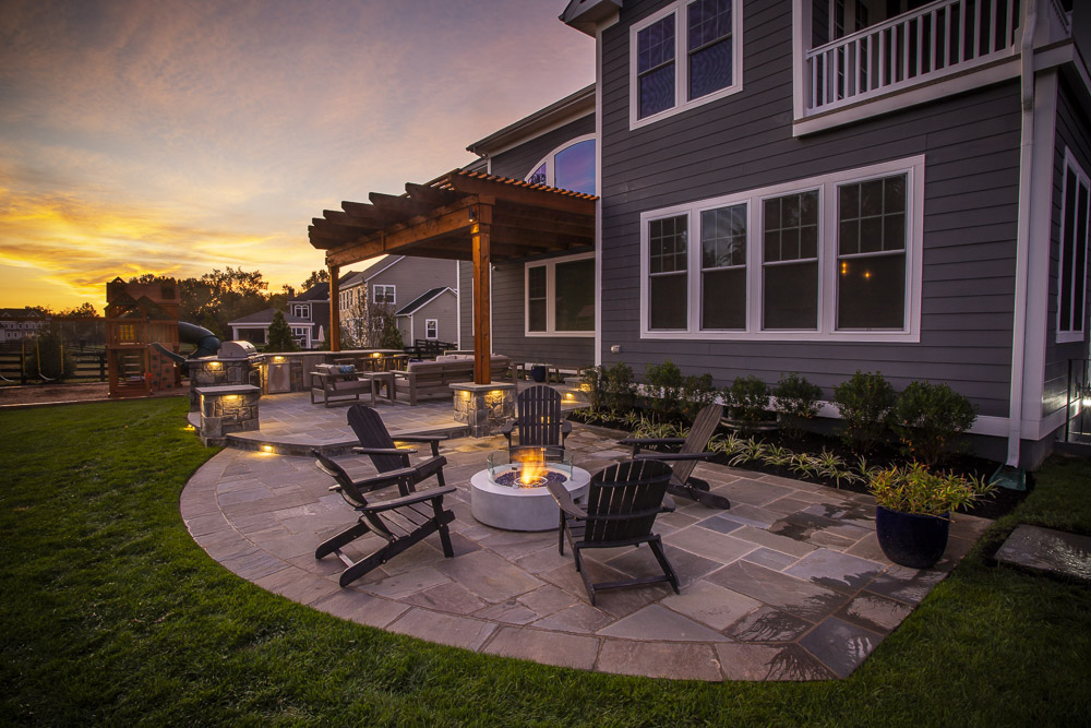 Willowsford Case Study: Backyard Patio, Pergola, Fire Pit, & Outdoor Kitchen in Loudoun County, VA