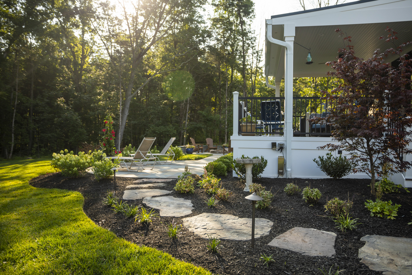 Connecting Areas in Your Great Falls, VA Landscape Design: Planning Transitions with Walkways, Stairs, Lawn & More