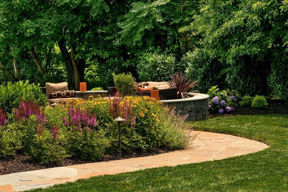 professionaly landscaped lawn in virginia